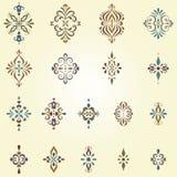Motivos ornamentado do redemoinho Imagens de Stock Royalty Free
