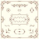 Motivos ornamentado e quadros Fotos de Stock Royalty Free