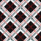 Motivos retros do projeto de matéria têxtil  verificador ilustração stock