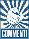 Motivplakatdesign mit der Hand, die auf zeigt Lizenzfreies Stockfoto