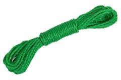 Motka długiej zieleni clothesline obraz stock