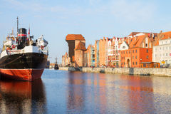 Motlawa quay and old  Gdansk Stock Image