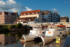 On the Motlawa River in Gdansk. Stock Photos