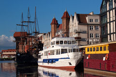 On the Motlawa river. Gdansk Stock Images