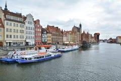 Motlawa river in Gdansk Royalty Free Stock Images