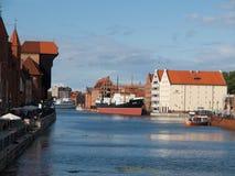 Motlawa river in Gdansk Stock Image