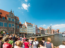 Motlawa river in port of Gdansk, Poland, Europe. Stock Photography