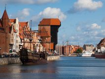 Motlawa riverside in Gdansk Royalty Free Stock Image