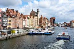 Motlawa rzeka w Gdańskim fotografia royalty free