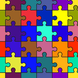 Motley abstract background with puzzle Stock Photography