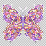 Motley abstract butterfly Royalty Free Stock Photography