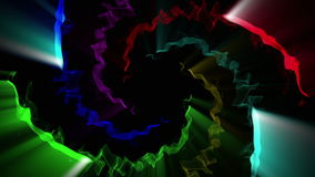 Motley abstract comets on black 4K. 3D animation in Ultra HD, seamless loop royalty free illustration