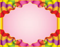 Motley abstract frame. Funny curtain. (vector, CMYK royalty free illustration