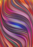 Motley background  from shimmering  wavy stripes Royalty Free Stock Photos