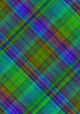 Motley checkered background of intersecting blue, green and red stripes Stock Photography