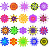 Motley collection from geometrical colors. Royalty Free Stock Images