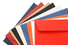 Motley  envelopes Stock Photography