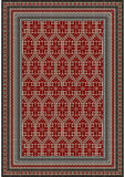 Motley ethnic pattern for the carpet in burgundy and beige shades Royalty Free Stock Photos