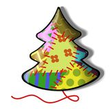 Motley firtree. A motley fir tree made of rags. Vector illustration royalty free illustration