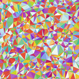 Motley Geometric Abstract Background of Triangles. Royalty Free Stock Photography