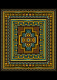 Motley geometric pattern for the original carpet Stock Photo