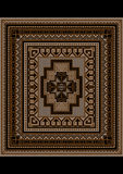 Motley geometric pattern for the original carpet Stock Images