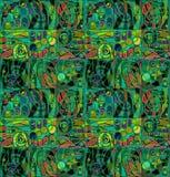 Motley geometrical stylized pattern. Green motley geometrical stylized pattern vector illustration