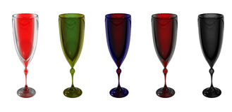 Motley goblets Stock Photos