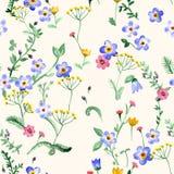 Motley grass seamless pattern Stock Image