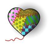 Motley heart. A motley heart made of rags. Vector illustration vector illustration