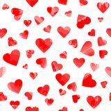Motley hearts. vector seamless pattern. valentines background. Wedding backdrop Stock Images