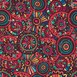 Motley mandalas seamless pattern Royalty Free Stock Image