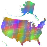 Motley map of USA Royalty Free Stock Image
