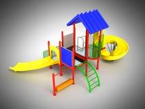 Motley playground красная 3D render on gray background Royalty Free Stock Image