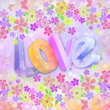 Motley romantic background Stock Images