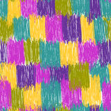 Motley scribbles seamless pattern Stock Photography