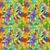 Motley seamless background with brush strokes Stock Photography