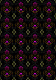 Motley seamless  background with floral ornament Stock Image