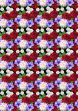 Motley seamless background with roses dahlias asters Stock Photo