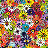 Motley seamless floral pattern. Motley seamless floral vivid pattern Royalty Free Stock Photography