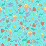 Motley Seamless Pattern for Summer Holidays Royalty Free Stock Photo