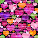 Motley seamless valentine pattern Royalty Free Stock Image