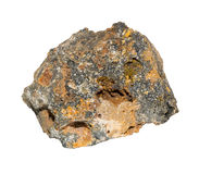 Motley Sphalerite stone. Sphalerite stone from Morocco Isolated Stock Image