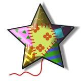 Motley star. A motley star made of rags. Vector illustration vector illustration