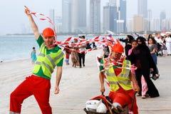 MOTN ( Mutter des Nation) Festival auf Abu Dhabi ' s Corniche Stockfotos