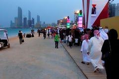 MOTN ( Mutter des Nation) Festival auf Abu Dhabi ' s Corniche Lizenzfreies Stockfoto