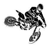 Moto十字架车手 库存照片