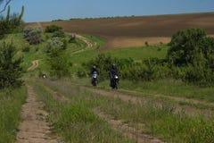 Moto旅行 库存照片