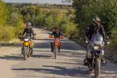 Moto旅行 库存图片