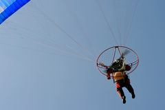 moto滑翔伞 图库摄影